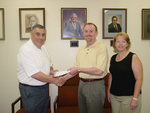 08-31-2006 Wells Donates to SWOSU College of Pharmacy by Southwestern Oklahoma State University