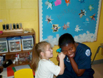 01-23-2007 SWOSU Nursing Students Work With Children 1/2 by Southwestern Oklahoma State University