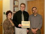 02-27-2007 Harris, McKillip Receive NASA Scholarships at SWOSU 2/2 by Southwestern Oklahoma State University