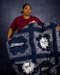 02-11-2009 Student Sews SWOSU Blanket by Southwestern Oklahoma State University