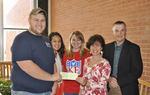 11-18-2013 SWOSU Frats and Sororities Present Money to Food Pantry