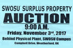10-17-2017 Surplus Auction Planned November 3 at SWOSU by Southwestern Oklahoma State University
