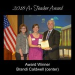 2018 A+ Teacher Award Winner Brandi Caldwell by The DaVinci Institute