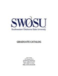 Graduate Catalog 2017-2018 by Southwestern Oklahoma State University
