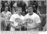 Student Volunteers for Fan Jam Basketball Event 2005