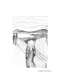 "Pen and Ink rendering of Munch's ""Scream"", (Issue 36, p. 3) by Sharon C. Rossman"