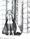 """Eowyn at Meduseld"" (Issue 20, p.10)"