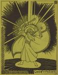 """Back Cover: """"Gandalf in Meduseld"""", Issue 35"""