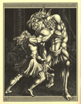 """Back Cover: """"Beowulf and Grendal"""",  Issue 48"""