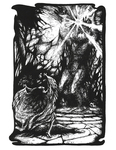 """Back Cover: """"Luthien Confronts Morgoth"""""""