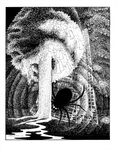 """""""Ungoliant Drinks the Light"""", (Issue 75, p. 21) by Sarah Beach"""