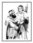 "Back Cover: ""Gimli and Logolas"", Issue 78 by Denis Gordeyev"