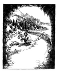 """Back Cover: """"Enter the World of Myth"""", Issue 79 by Judith Mitchel"""