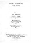 A History of Southwestern State College, 1903-1953