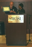 Yolanda Carr Presents Certificate of Appreciation Plaque to Robert Barnes