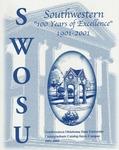Sayre: Undergraduate Catalog 2001-2003 by Southwestern Oklahoma State University