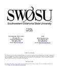 Weatherford: Undergraduate Catalog 2019-2020 by Southwestern Oklahoma State University