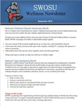 September 2019 by SWOSU Bulldog Wellness Committee